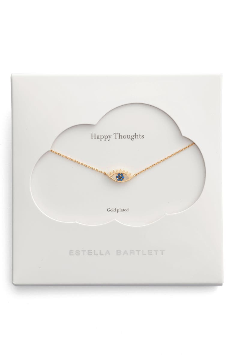 ESTELLA BARTLETT Happy Thoughts Eye Pendant Necklace, Main, color, GOLD