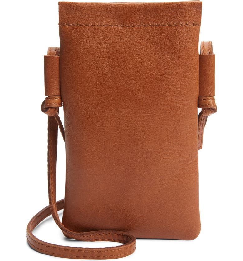 MADEWELL The Smartphone Leather Crossbody Bag, Main, color, RUSTIC TWIG