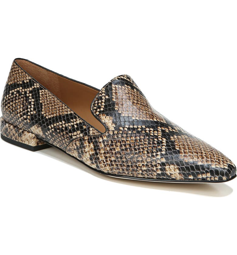 SARTO BY FRANCO SARTO Parma Pointed Toe Loafer, Main, color, BEIGE SNAKE PRINT LEATHER