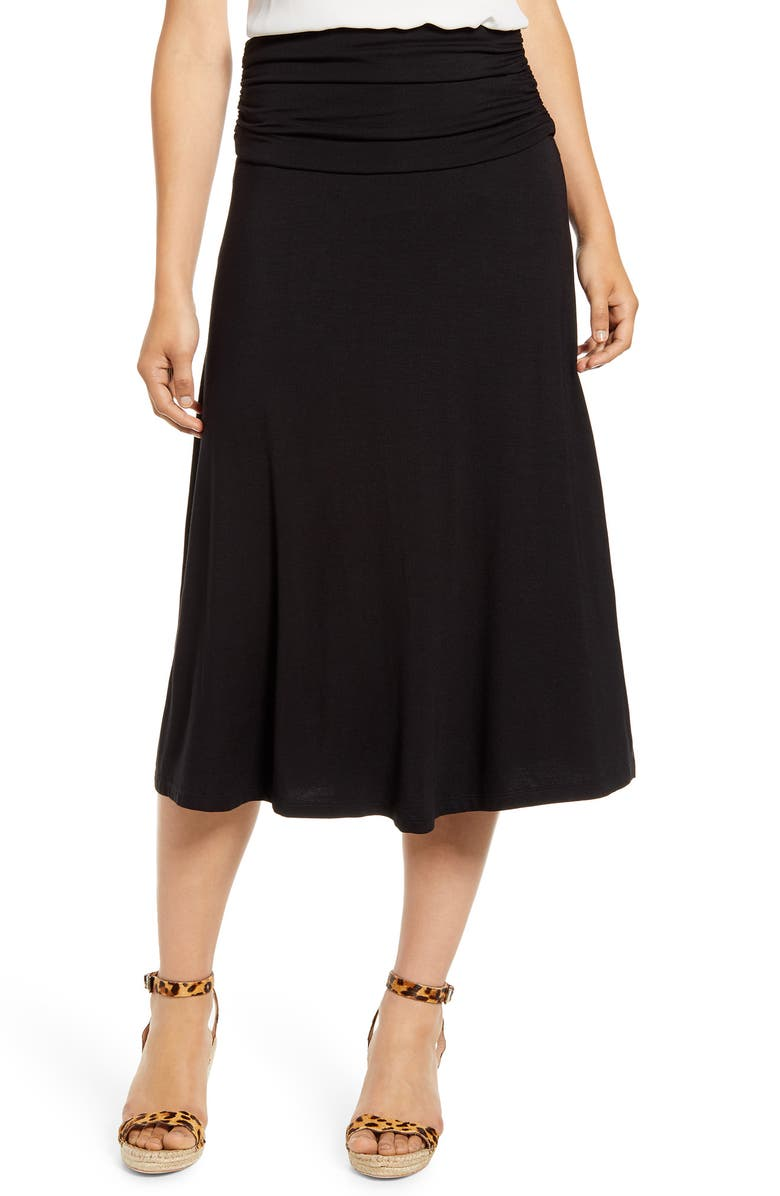 BOBEAU Andie Convertible Knit Skirt, Main, color, 001