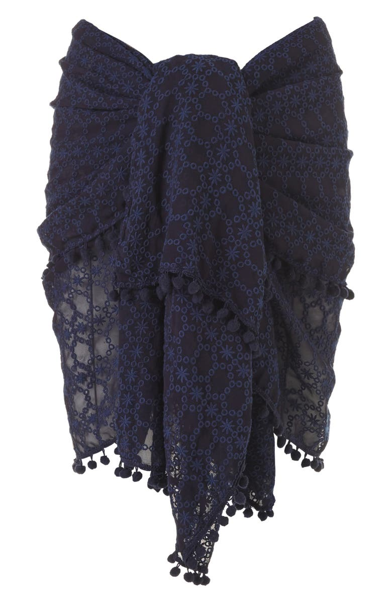 MELISSA ODABASH Embroidered Pareo, Main, color, NAVY