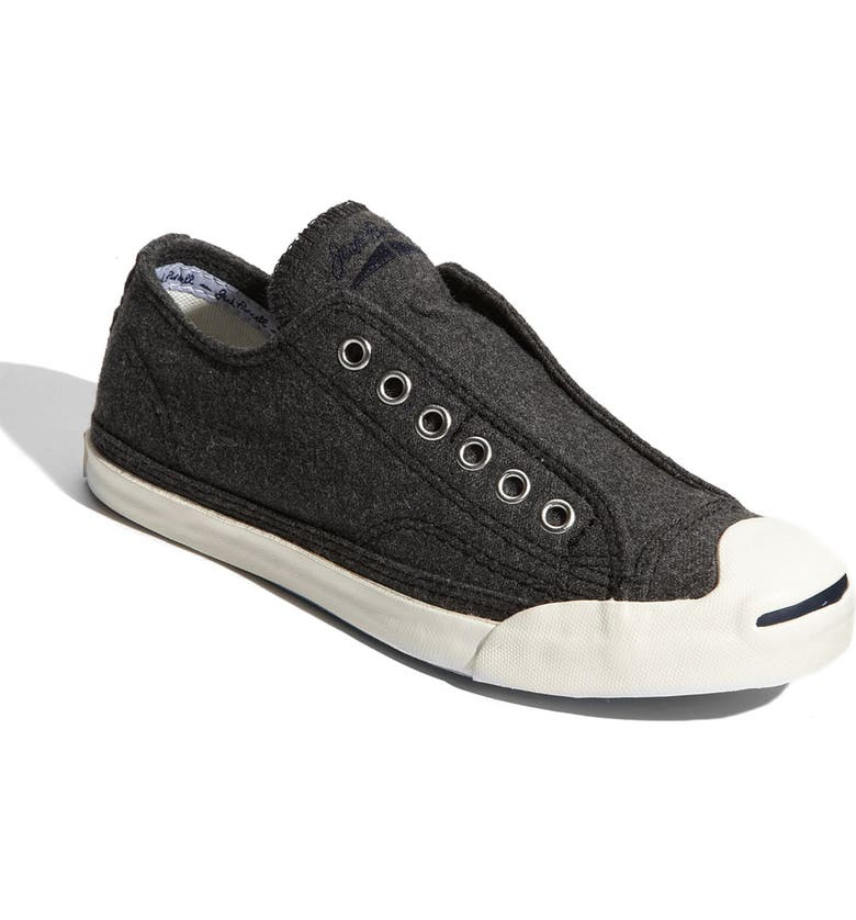 CONVERSE 'Jack Purcell' Slip-On Sneaker, Main, color, GREY WOOL