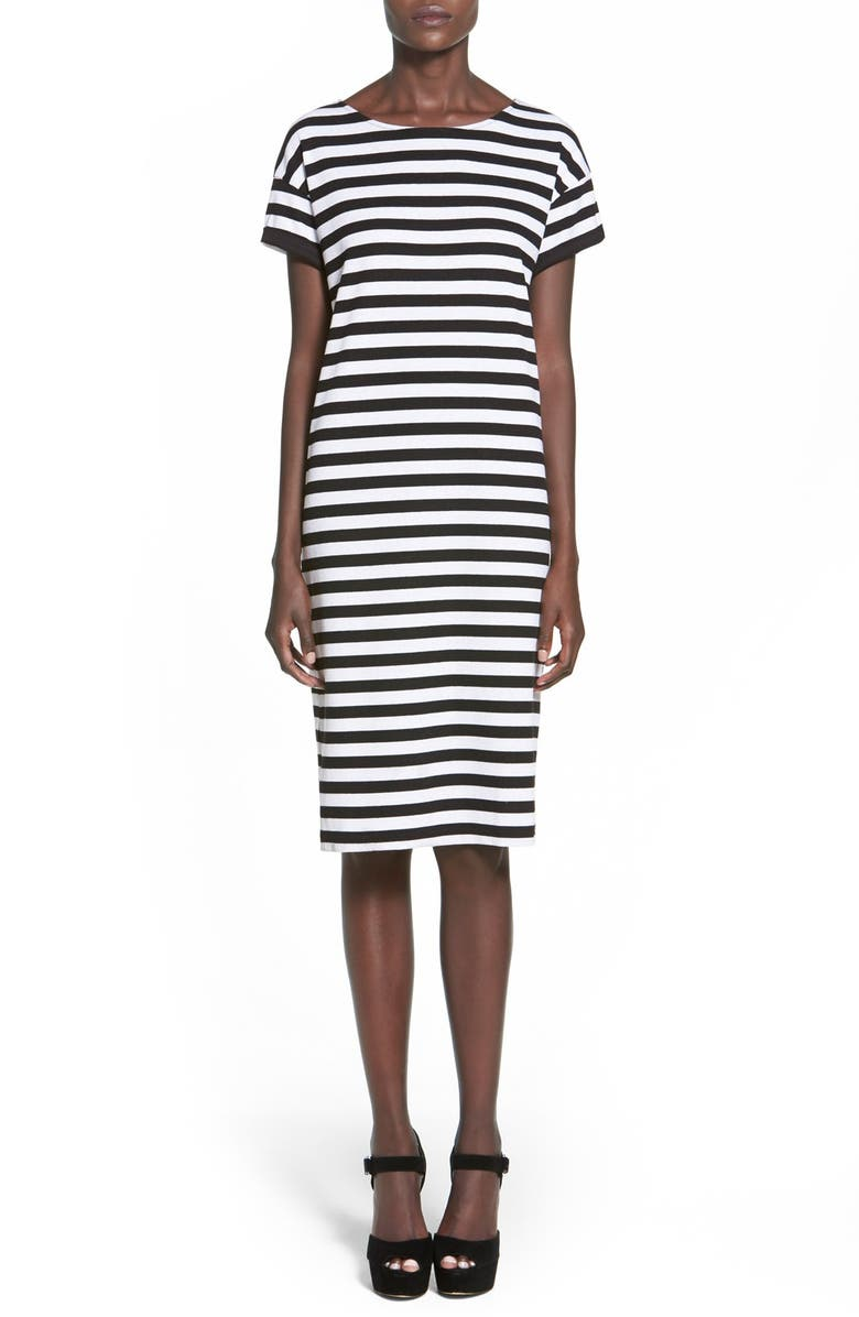MINKPINK 'Sleepless' Stripe Knit Shift Dress, Main, color, 013