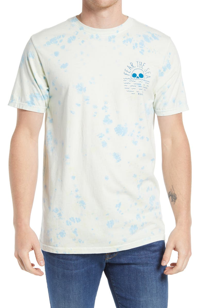 ROARK Men's Fear the Sea Logo T-Shirt, Main, color, DUSTY BLUE