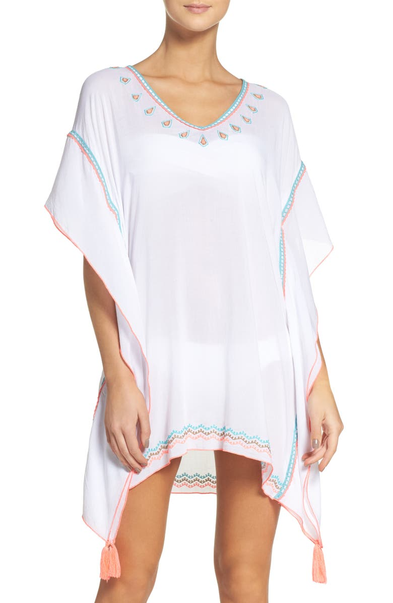 SURF GYPSY Embroidered Cover-Up, Main, color, White