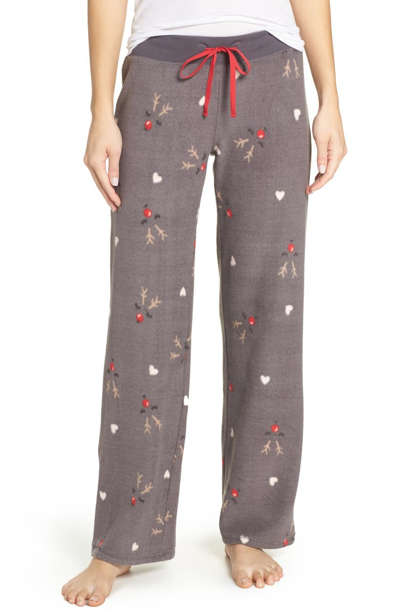 MAKE + MODEL Fleece Pajama Pants, Main, color, 022