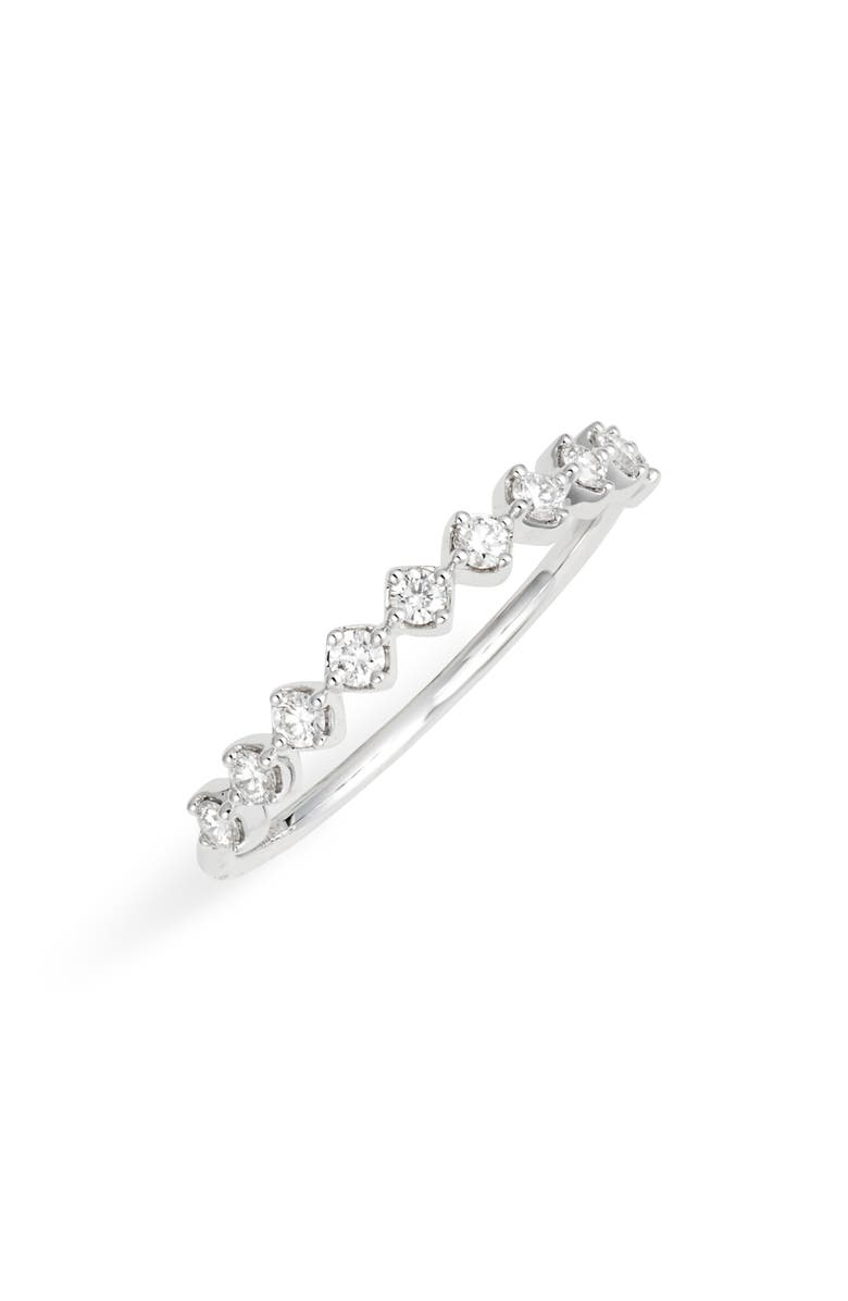 BONY LEVY Bardot Collection Diamond Stackable Ring, Main, color, WHITE GOLD/ DIAMOND