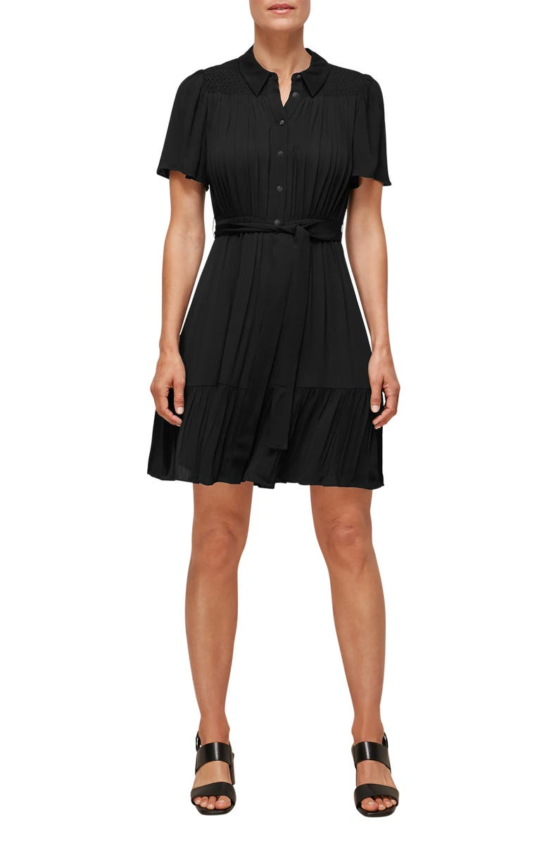 WHISTLES Tate Smocked Dress, Main, color, 001