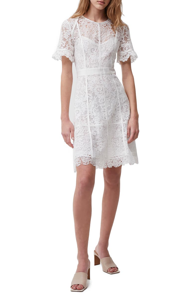 FRENCH CONNECTION Cabrera Lace Sheath Dress, Main, color, SUMMER WHITE