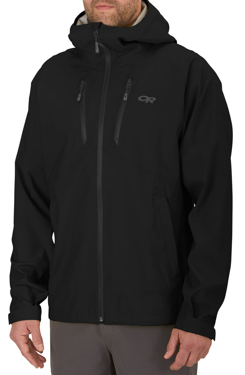OUTDOOR RESEARCH Microgravity Ascentshell Waterproof Jacket, Main, color, BLACK