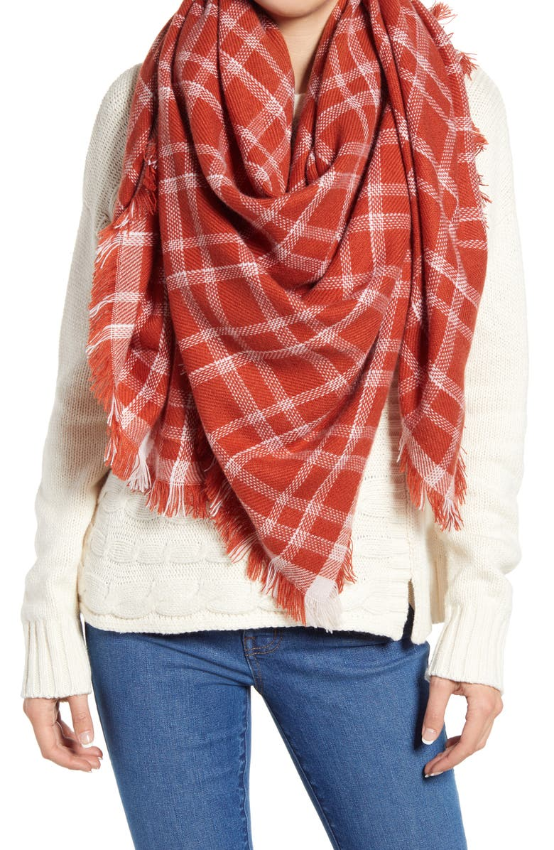 MADEWELL Blanket Scarf, Main, color, RUSSET
