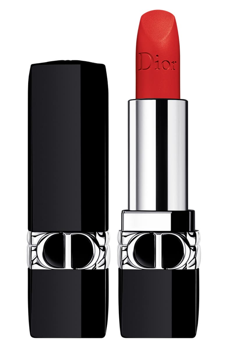 DIOR Rouge Dior Refillable Lipstick, Main, color, 888 STRONG RED / MATTE