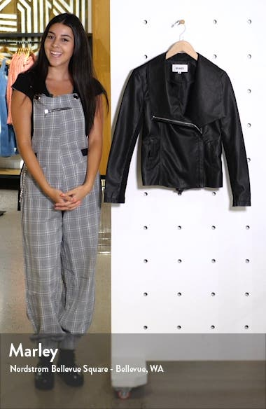 Up to Speed Faux Leather Moto Jacket, sales video thumbnail