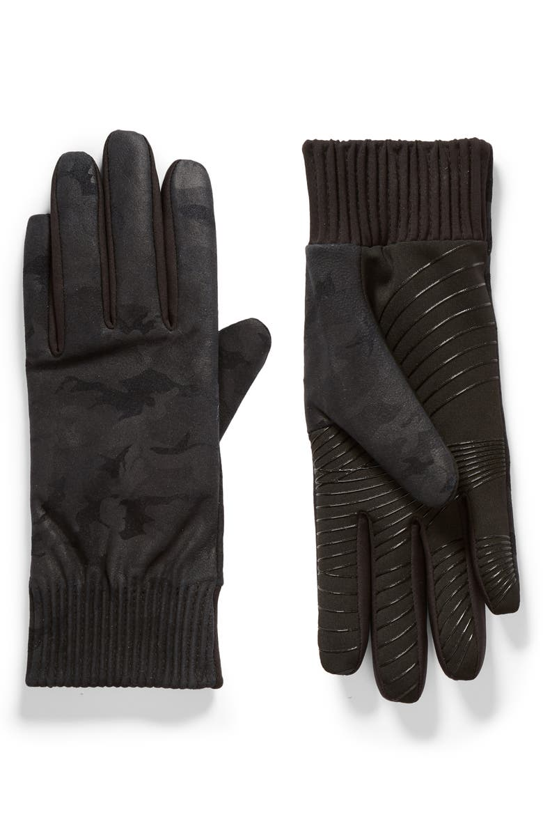 U|R Leather Touchscreen Compatible Gloves, Main, color, 002
