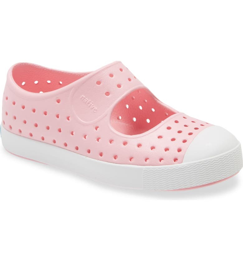 NATIVE SHOES Juniper Perforated Mary Jane, Main, color, LANTERN PINK/ SHELL WHITE