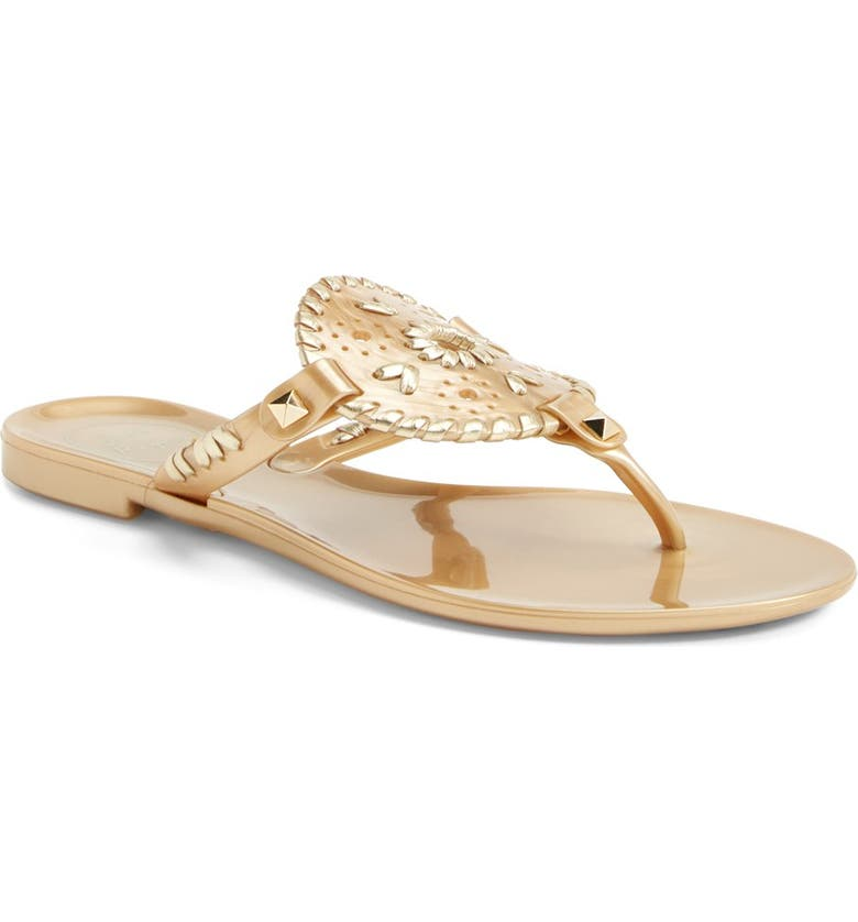 JACK ROGERS 'Georgica' Jelly Flip Flop, Main, color, GOLD