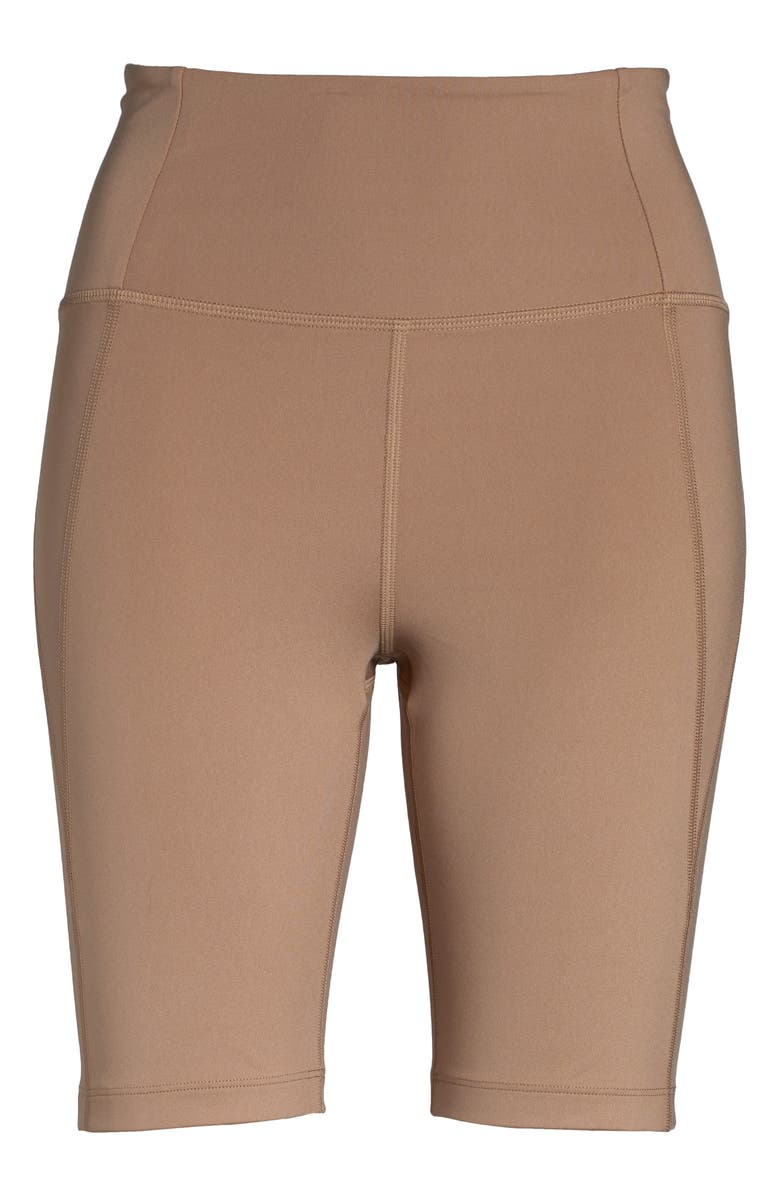 GIRLFRIEND COLLECTIVE High Waist Bike Shorts, Main, color, BROWNIE