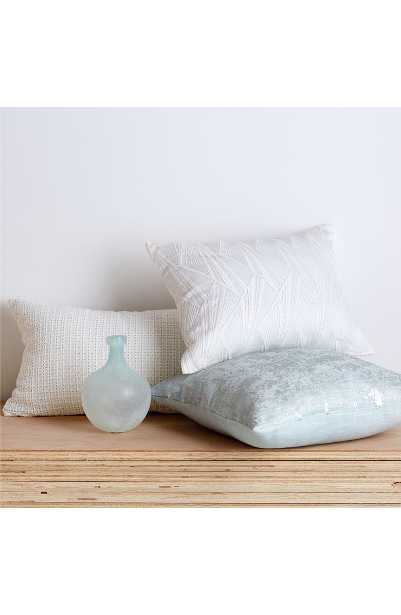 DKNY Refresh Metallic Accent Pillow, Main, color, MIST