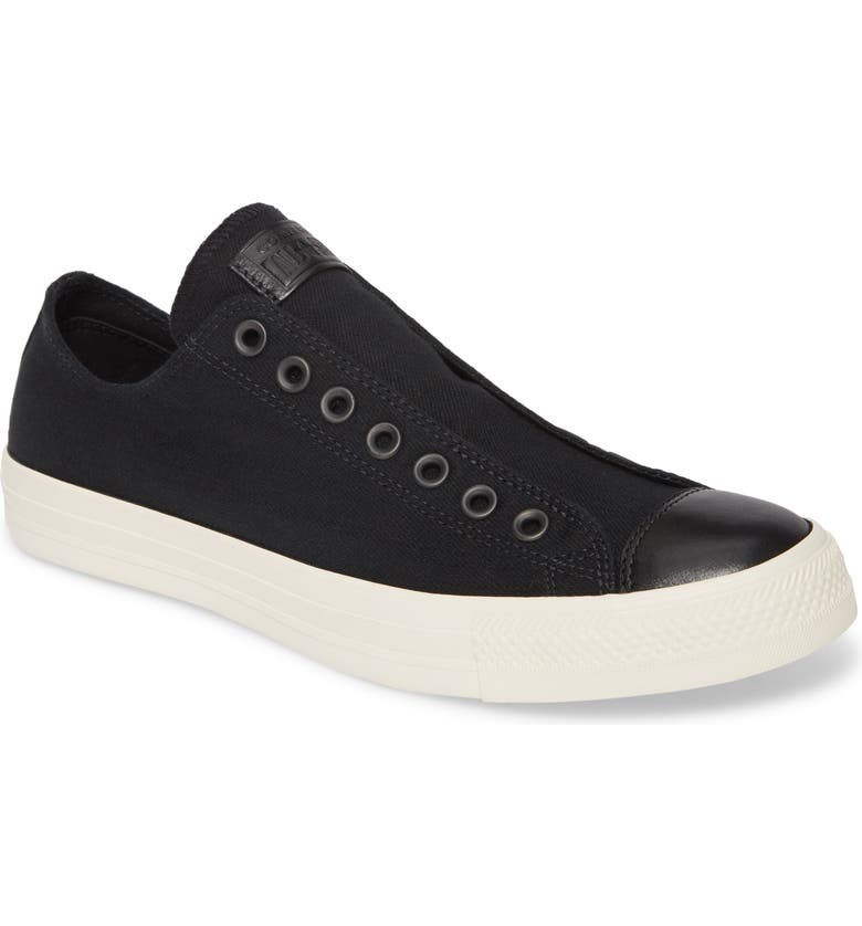 CONVERSE Chuck Taylor<sup>®</sup> All Star<sup>®</sup> Laceless Low Top Sneaker, Main, color, 002