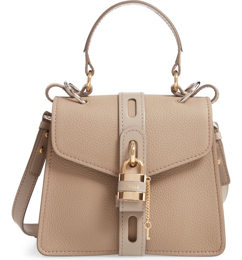 CHLOÉ Small Aby Leather Convertible Bag, Main, color, 021