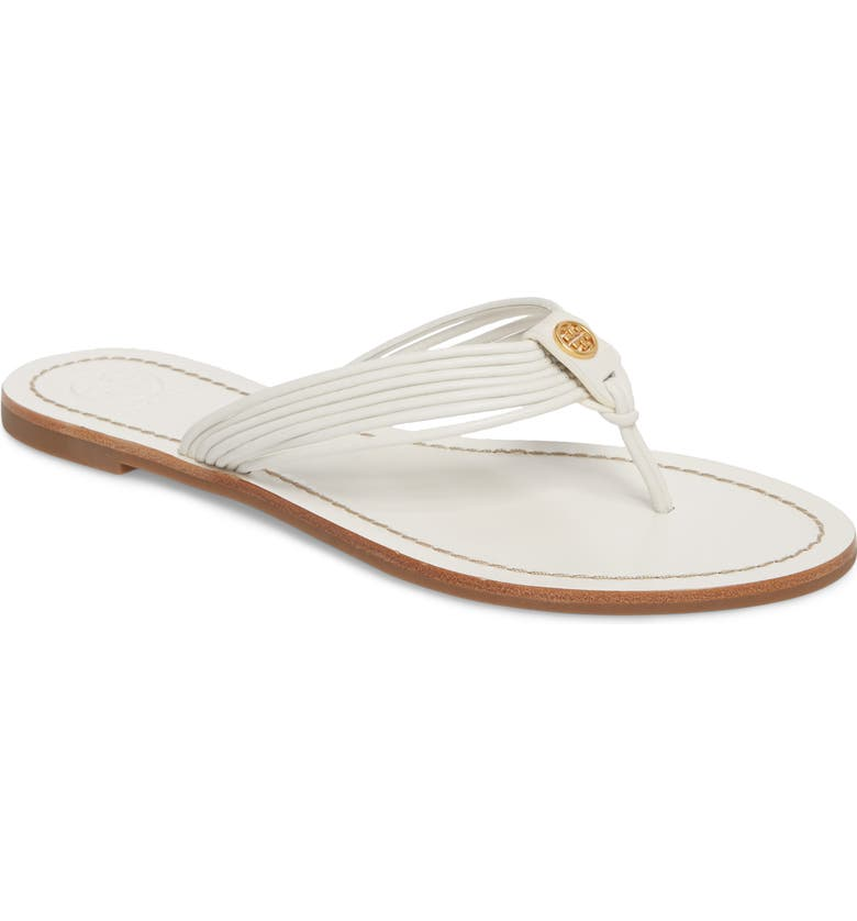 TORY BURCH Sienna Strappy Thong Sandal, Main, color, PERFECT WHITE/ PERFECT WHITE