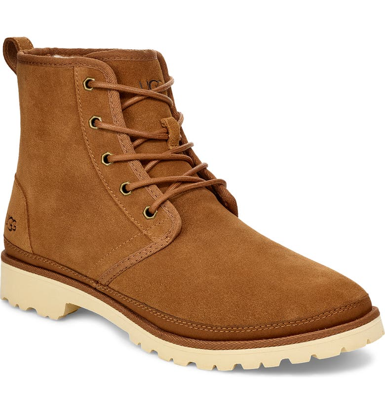 UGG<SUP>®</SUP> Harkland Water Resistant Boot, Main, color, CHESTNUT SUEDE