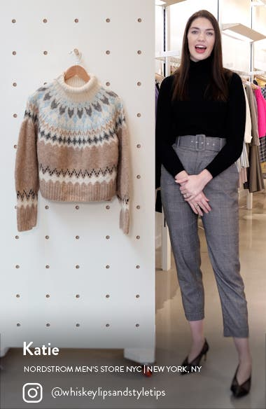 Fran Fair Isle Turtleneck Sweater, sales video thumbnail