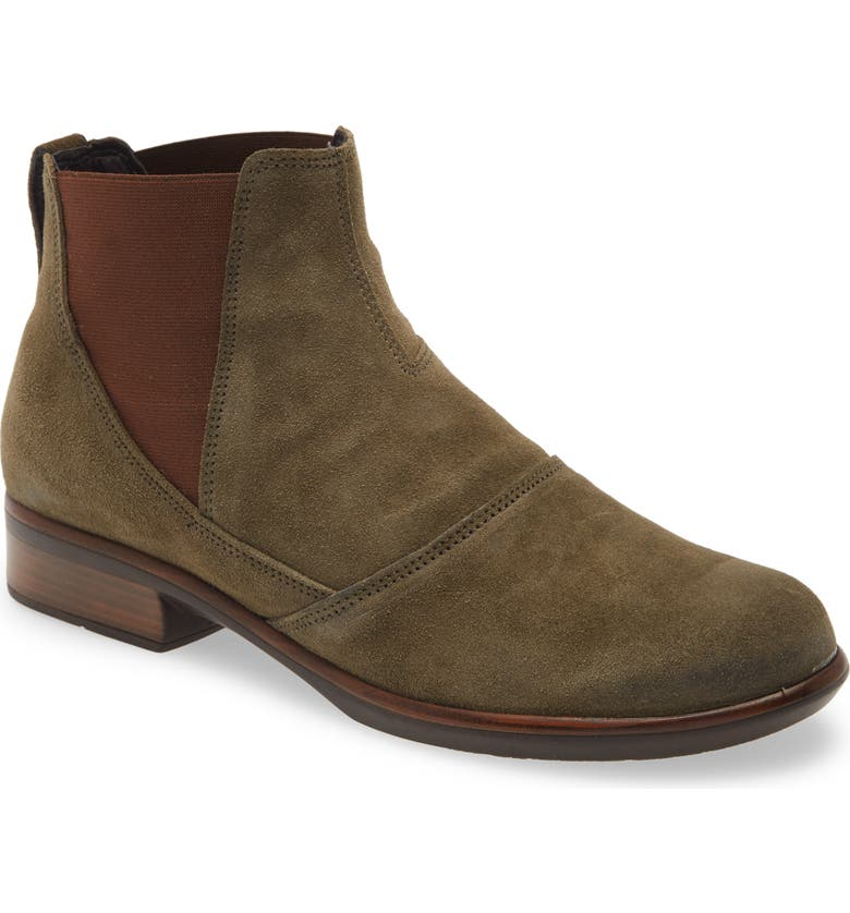 NAOT Ruzgar Chelsea Boot, Main, color, OLIVE SUEDE