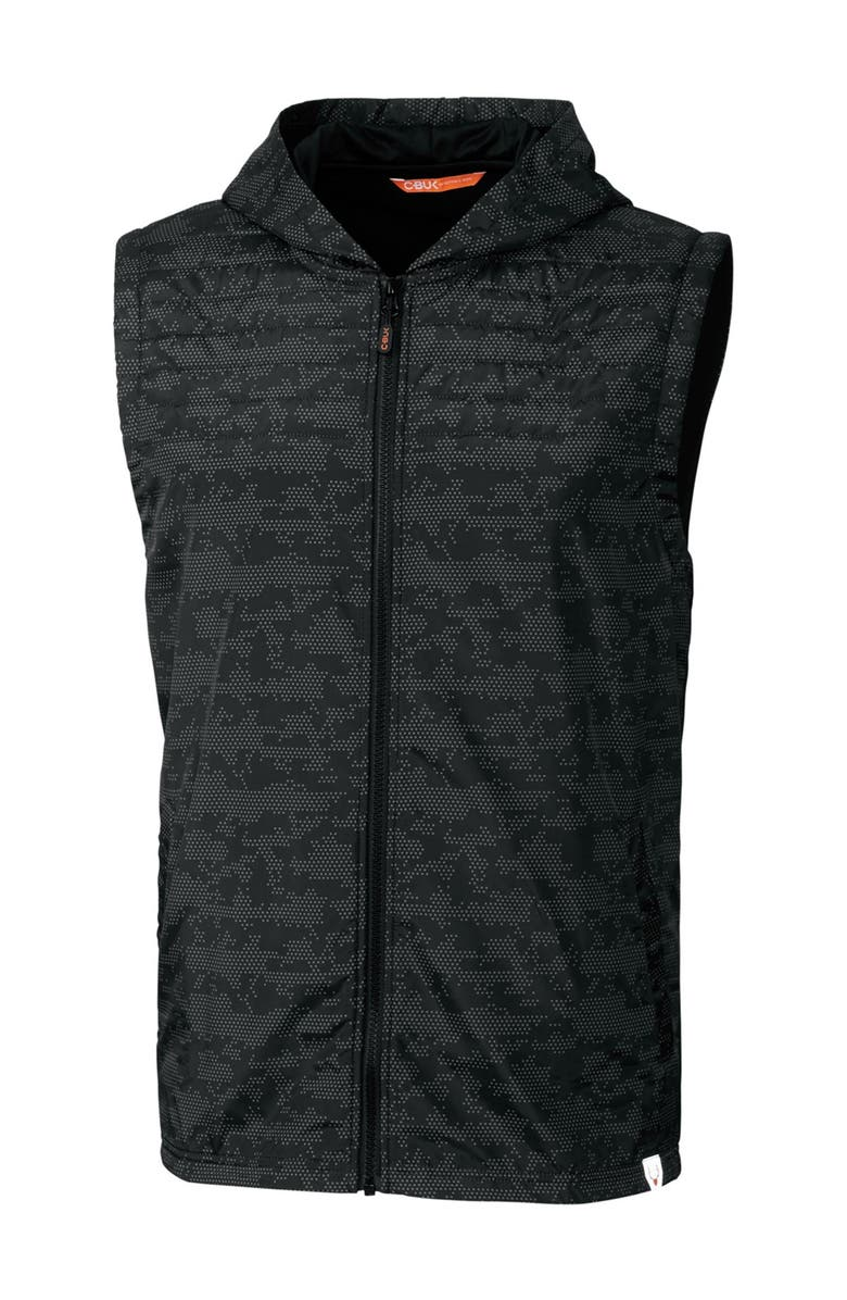 CUTTER AND BUCK Swish Printed Sport Vest, Main, color, BLACK