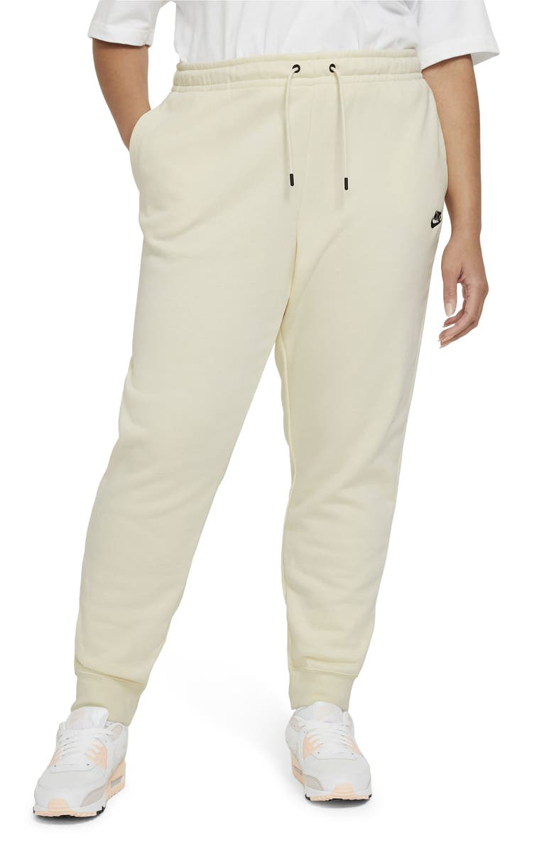 NIKE Sportswear Essential Fleece Pants, Main, color, COCONUT MILK/ BLACK