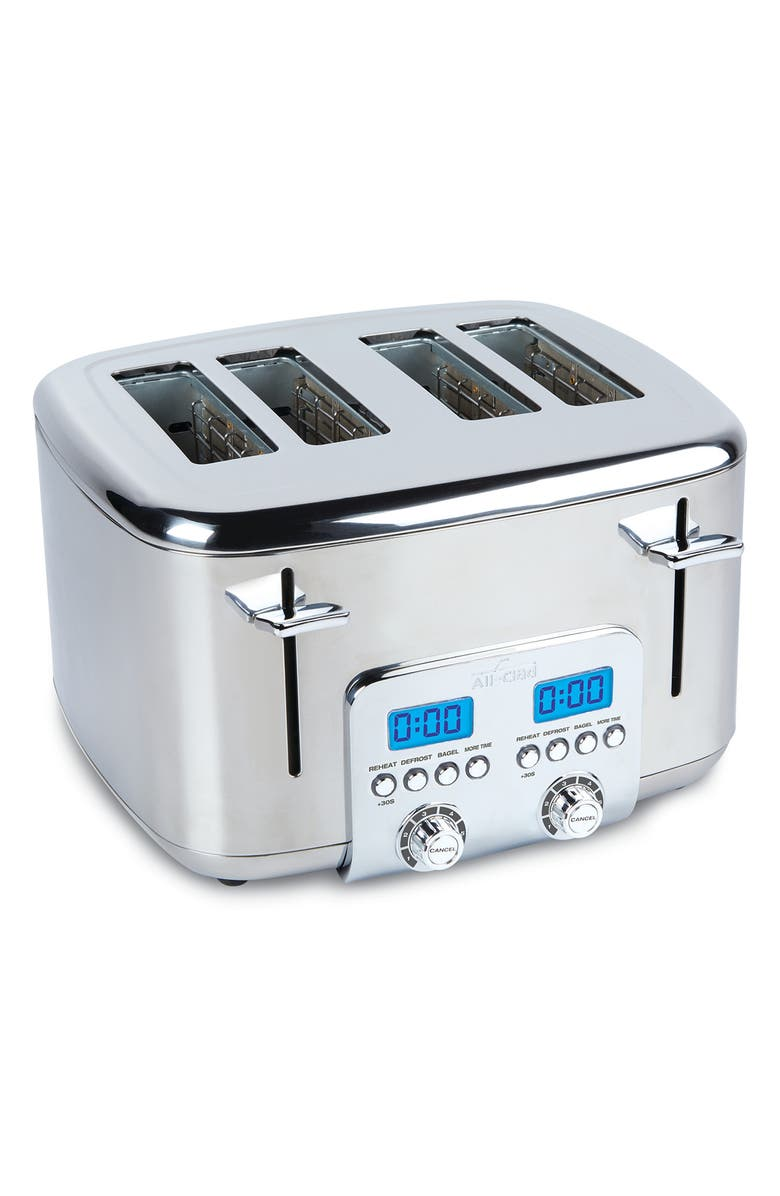 ALL-CLAD 4-Slice Digital Toaster, Main, color, SILVER