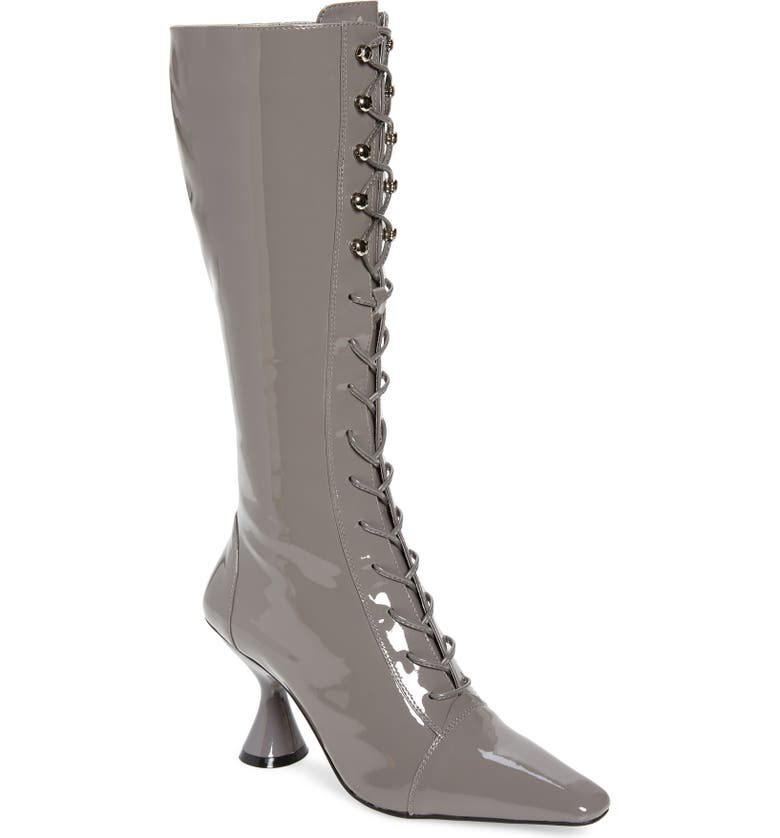 JEFFREY CAMPBELL Elvita Pointed Toe Boot, Main, color, GREY PATENT