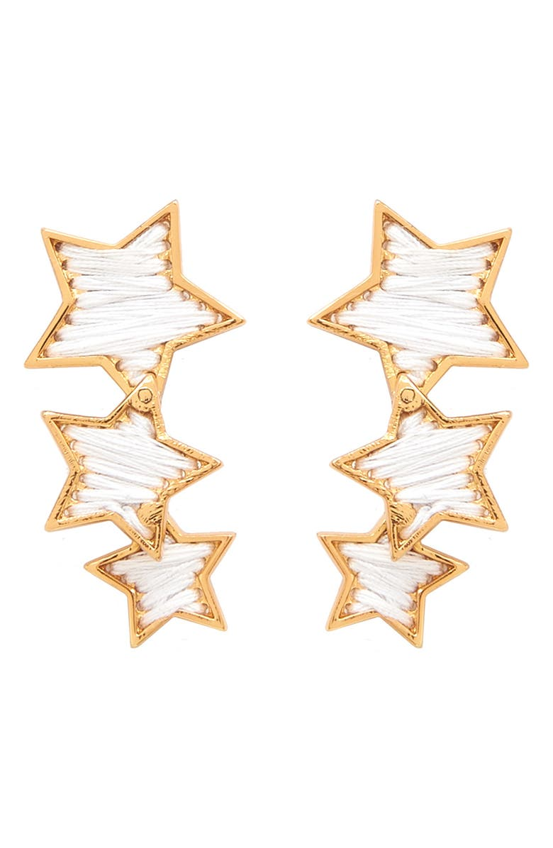 MIGNONNE GAVIGAN Triple Star Earrings, Main, color, 100