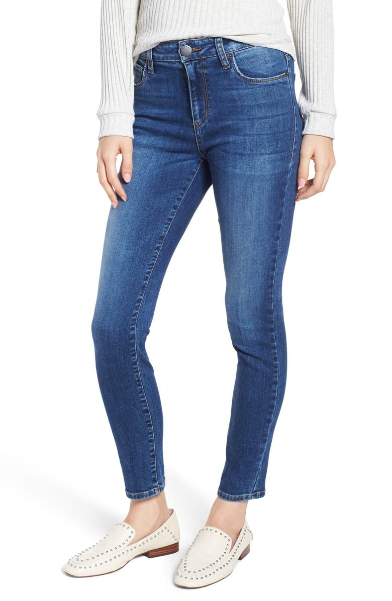 STS BLUE Emma High Waist Ankle Skinny Jeans, Main, color, 400