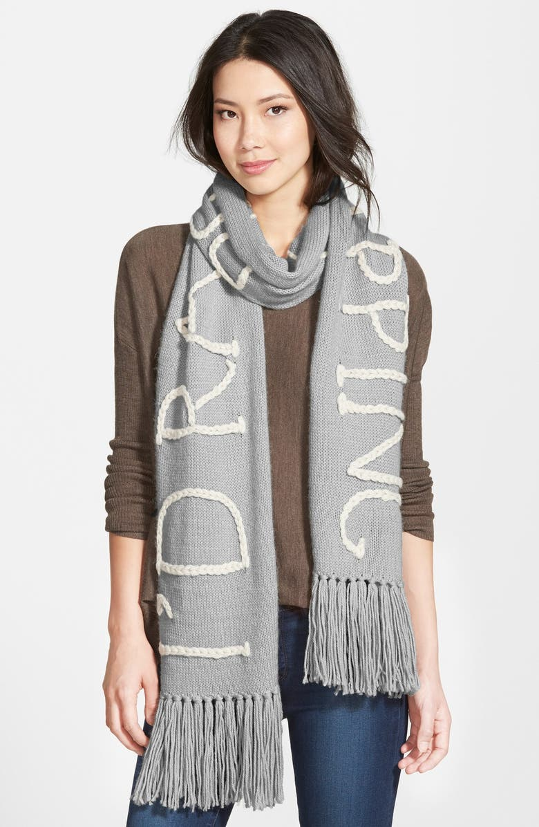 WILDFOX 'I'd Rather be Napping' Scarf, Main, color, 020