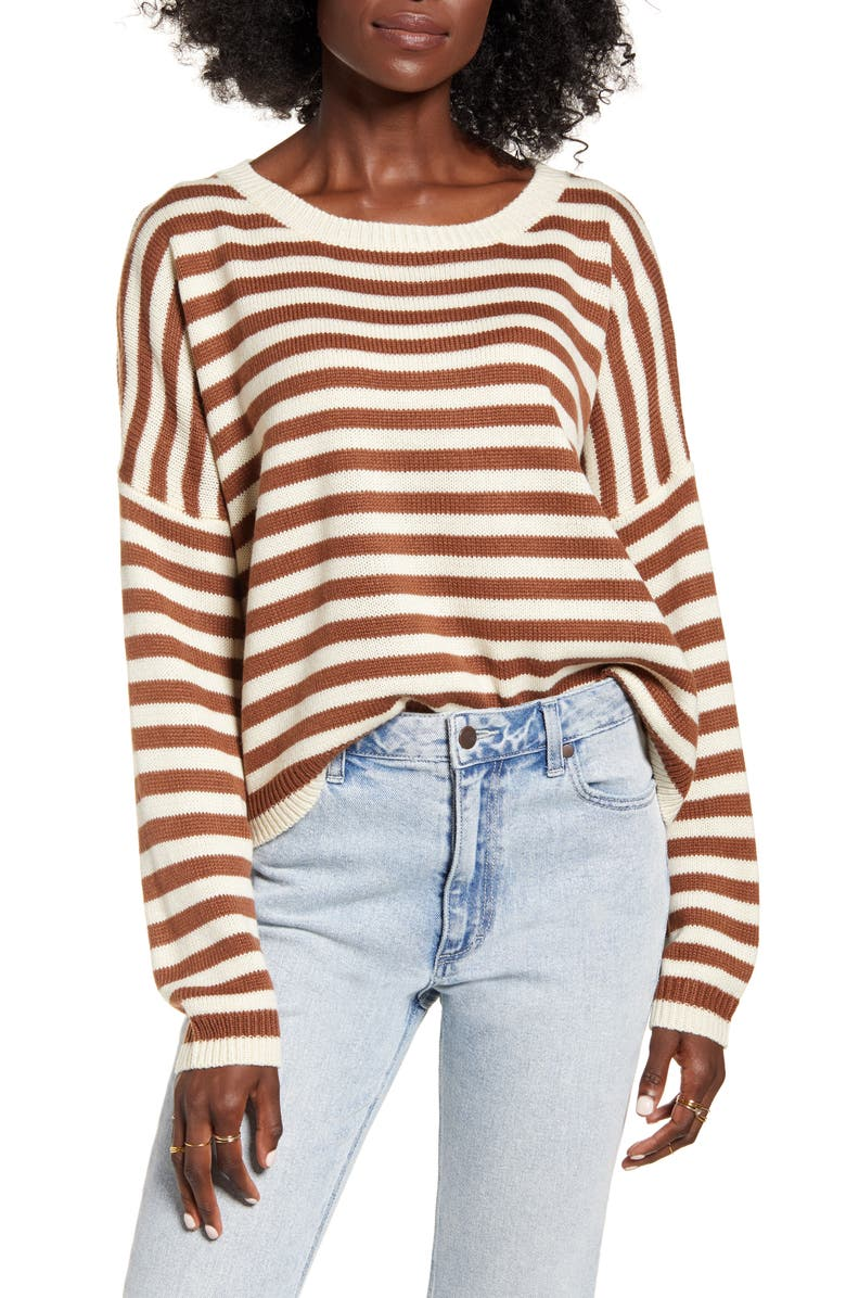 DREAMERS BY DEBUT Stripe Sweater, Main, color, 200