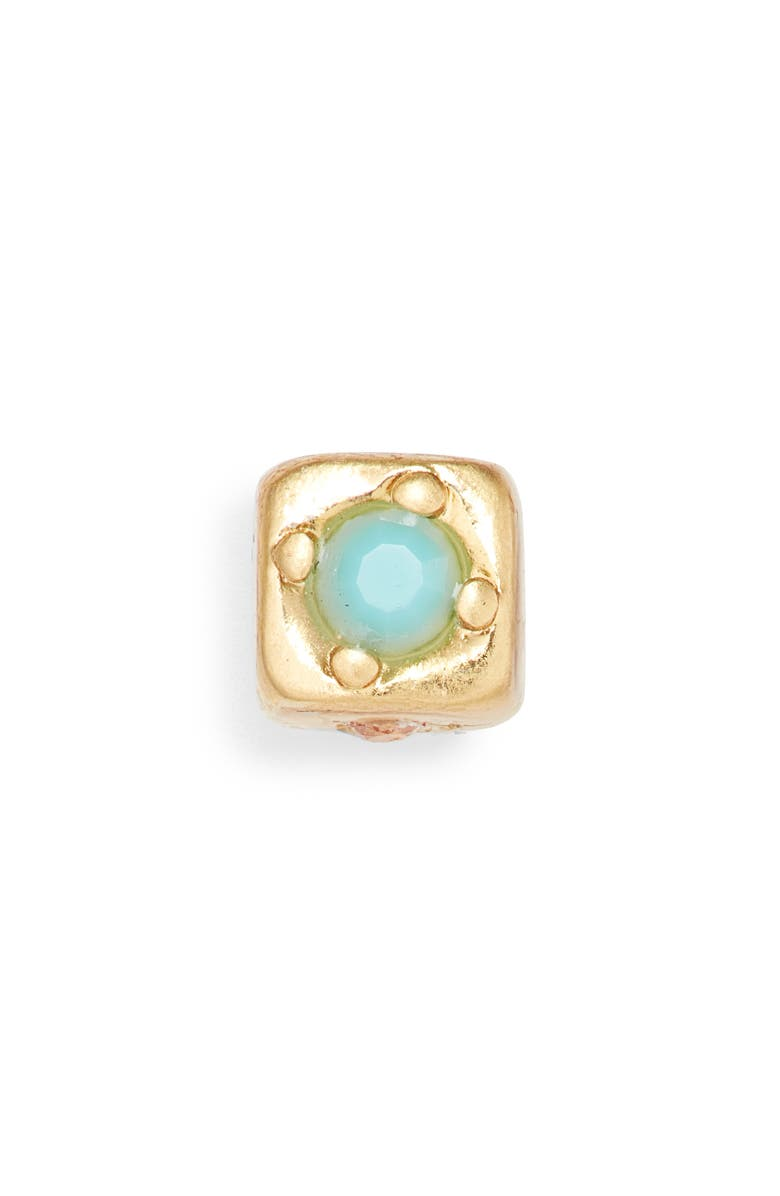 MADEWELL Mixer Single Stud Earring, Main, color, TURQUOISE STONE