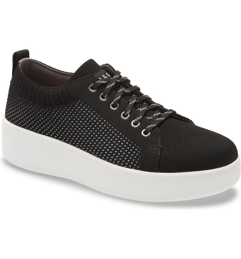 TRAQ BY ALEGRIA Qruise Platform Sneaker, Main, color, BLACK FABRIC