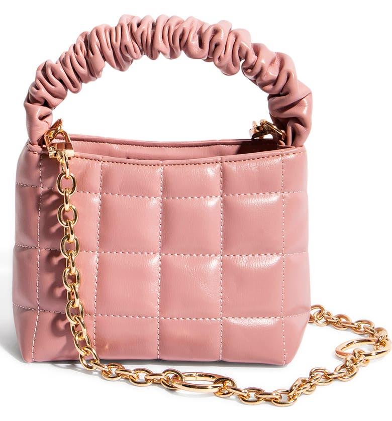 HOUSE OF WANT How We Brunch Vegan Leather Mini Tote, Main, color, PINK