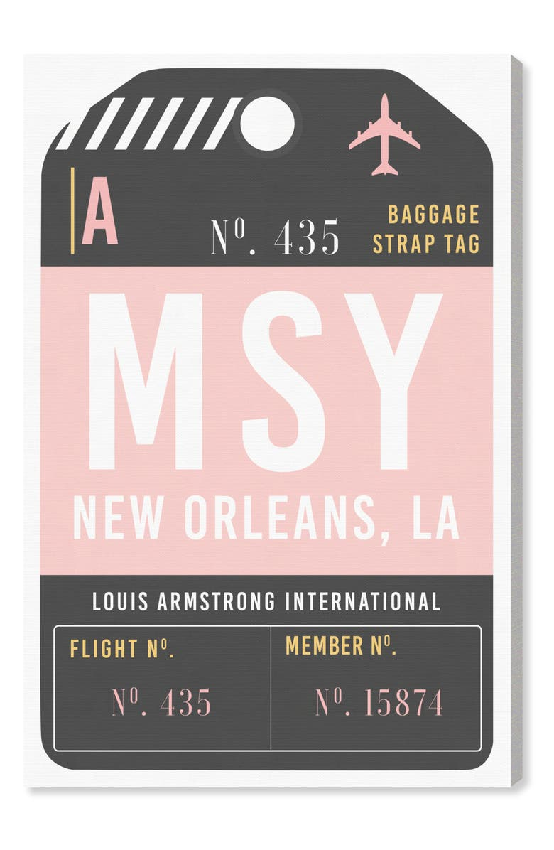 OLIVER GAL New Orleans Luggage Tag Wall Art, Main, color, 650
