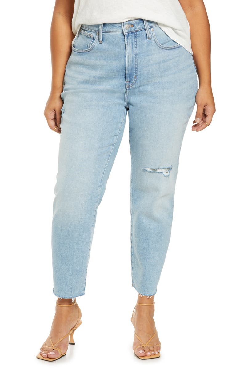 MADEWELL Curvy Perfect Worn-In Jeans, Main, color, COFFEY