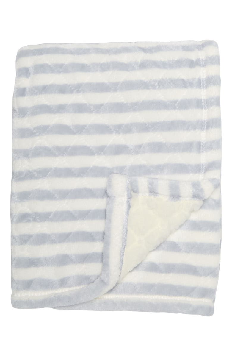NORTHPOINT TRADING Lullaby Stripe Print Blanket, Main, color, BLUE