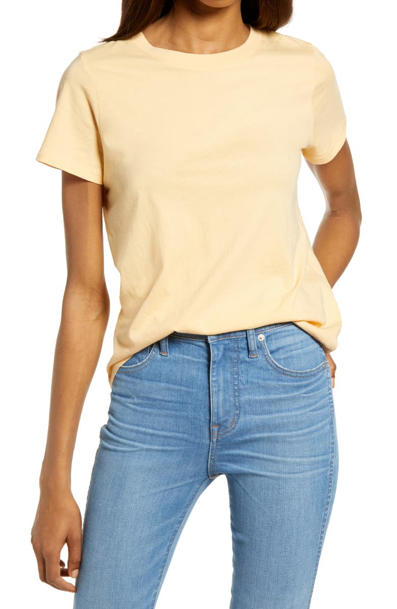 MADEWELL Northside Vintage Tee, Main, color, FADED APRICOT