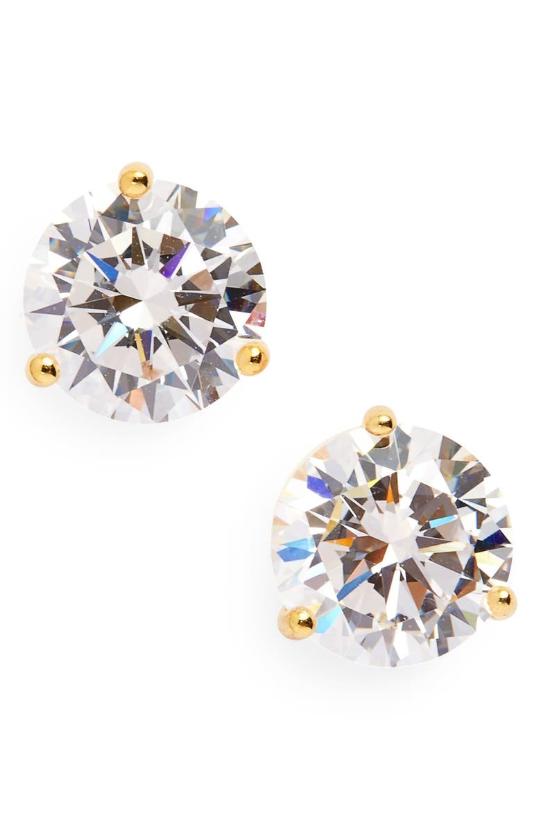 NORDSTROM 3ct tw Cubic Zirconia Earrings, Main, color, GOLD
