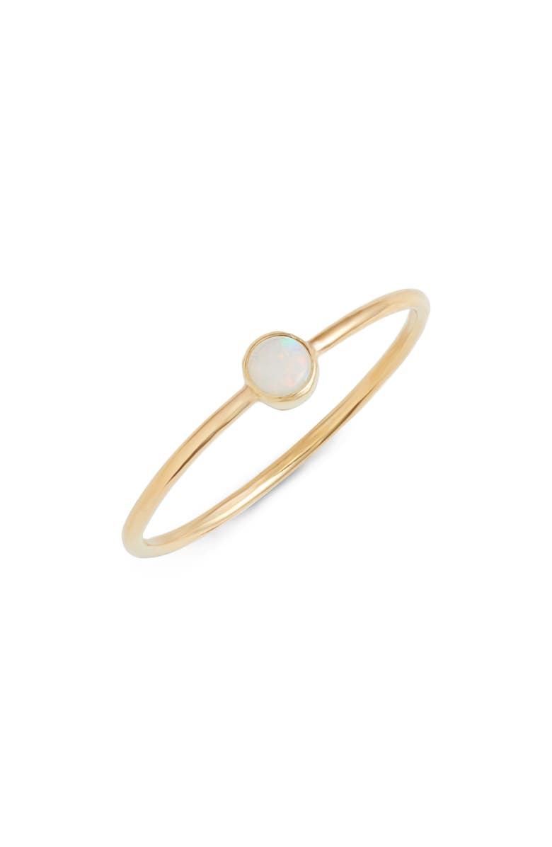 ZOË CHICCO Opal Stacking Ring, Main, color, 710