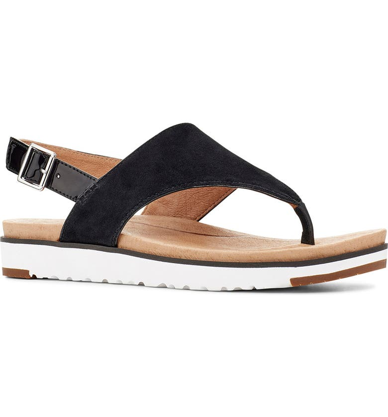 UGG<SUP>®</SUP> Aleesia Sandal, Main, color, 001