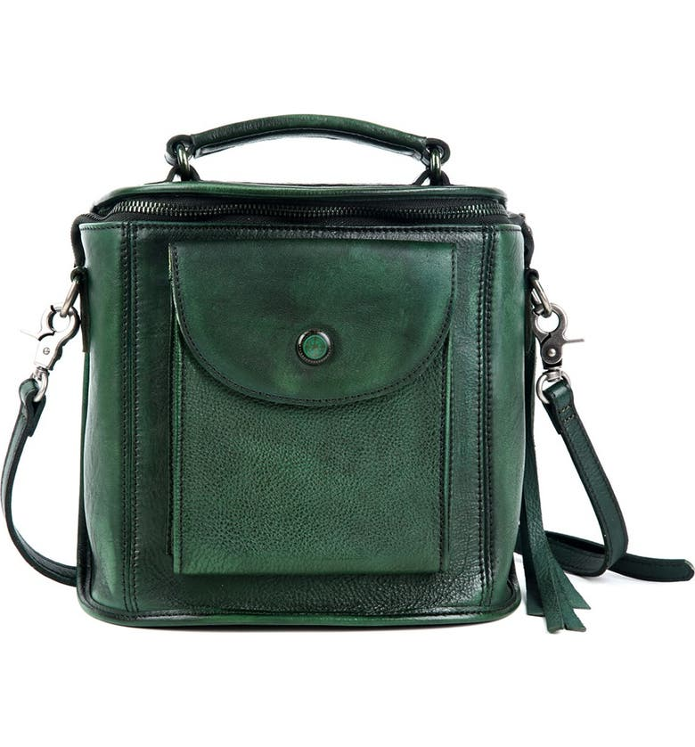 OLD TREND Isla Leather Crossbody Bag, Main, color, VINTAGE GREEN