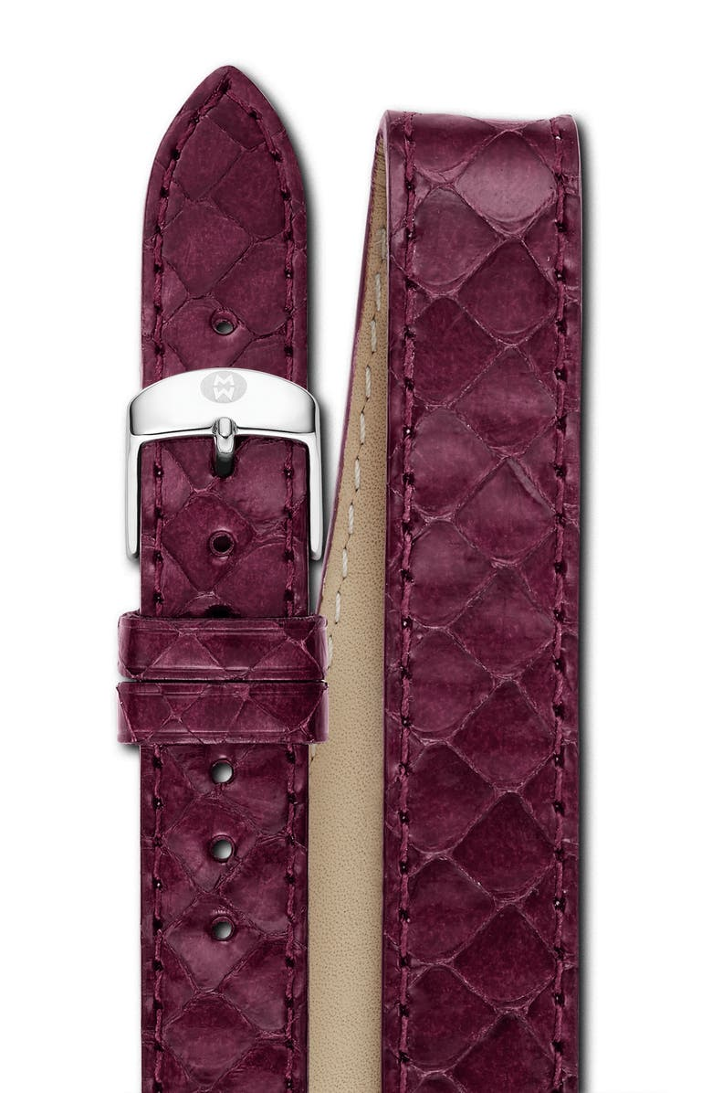 MICHELE 18mm Genuine Snakeskin Double Wrap Watch Strap, Main, color, 500