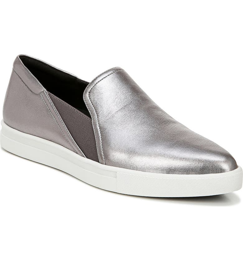 27 EDIT Tyra Slip-On Sneaker, Main, color, PEWTER LEATHER