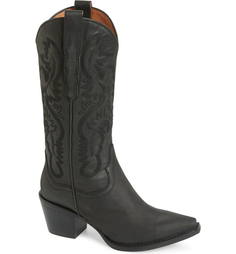 JEFFREY CAMPBELL Dagget Western Boot, Main, color, BLACK WASHED